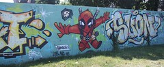 Graff: parking Kerfautras à Brest (08/07/2018) (EricFromPlab) Tags: cartoon graff graffiti tag tags street art urban wall mural streetart bretagne finistère breizh brittany brest