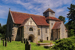 St  Mary's Church, Breamore (iwys) Tags: st mary church breamore hampshire architecture english timbered tower beautiful unusual old blue sky saxon flint roman bricks 980 ad tenth century 10th