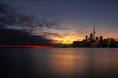 Wider angle of Toronto Skyline (Dan Fleury Photos) Tags: city toronto cans2s yyz 416 downtown cntoner skyline cityscape urbanlandscape urban waterfront ontario canda sony canada sunset