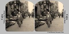 33_stereokarte_sepia_PC290109 (said.bustany) Tags: 2018 dezember stereokarte kairo ägypten bazar khanelkhalili besucher sepia public