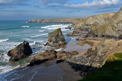 Bedruthan Steps, Cornwall (Nige H (Thanks for 15m views)) Tags: nature landscape seascape cornwall kernow sea waves bedruthansteps cliffs coast coastline rocks beach england southwestengland