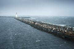 Snowstorm (Helena Normark) Tags: snowstorm storm wind windy promenaden pier lighthouse ila ilsvika trondheim sørtrøndelag trøndelag norway norge sonyalpha7ii a7ii 35mm lensbaby burnside35 lensbabyburnside35 lensbabylove seeinanewway