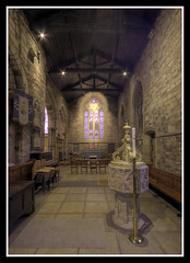 South Aisle Chapel and Font (veggiesosage) Tags: church leicester leicestershire saxonchurch normanchurch stnicholaschurch grade1listed sigma1020mmf456dc
