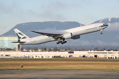 B-KQX Cathay B777-300ER (Vernon Harvey) Tags: bkqx boeing 777 77w cathay pacific vancouver yvr