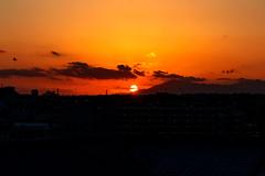 Sunset in The Tanzawa Mountains : 丹沢山塊に沈む夕日 (Dakiny) Tags: 2018 autumn november twilight sunset japan kanagawa yokohama aoba ichigao outdoor nature park city street lanscape nikon d750 nikonafsmicronikkor60mmf28ged afsmicronikkor60mmf28ged