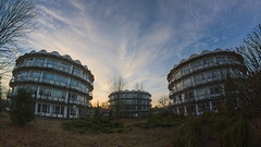 a round hotel (jkatanowski) Tags: abandoned forgotten urbex urban exploration europe poland clouds outdoor outside canon samyang 8mm fisheye architecture room