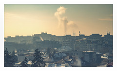 bad omen (Hansoul0) Tags: city panorama architecture clouds bucharest smoke longexposure winter bucuresti
