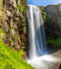 Midvikurfoss Iceland (Einar Schioth) Tags: midvikurfoss miðvíkurfoss eyjafjordur water waterfall river rocks rock sky summer sunshine shore day canon vividstriking blusky nationalgeographic ngc nature landscape photo picture outdoor iceland ísland einarschioth