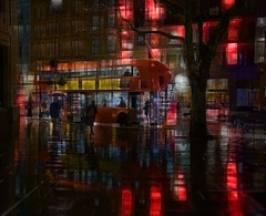 bus rain 4 zzz (duncan!) Tags: ©2019duncanwadeallrightsreserved leica m10 voigtlander 40mm f12 nokton london trafalgar square bus londonbus redbus street rain reflections abstract extreme crystalcity