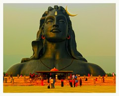 Adiyogi  ( first guru ) 112 feet height Guinness world record (Rajavelu1) Tags: adiyogi guinnessrecord statue art creative handheld availablelight dslr coimbatore tamilnadu india artdigital cinematic