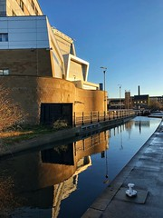 Lines, curves and reflections (Mr_Pudd) Tags: technicalcollege follyhall huddersfieldnarrowcanal huddersfield