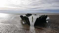 Wreck of the SS Nornen (real ramona) Tags: berrow brean sands beack ship wreck wreckage aground sky wood timbers somerset