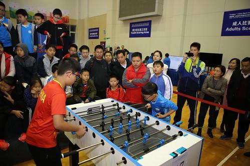 福前实验小学一队团体赛决赛对阵深圳西丽小学并获胜