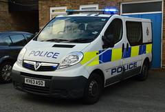 Durham Constabulary - KV63 ASO (Chris' 999 Pics) Tags: durham constabulary vauxhall vivaro station cell response van irv responding incident vehicle 999 112 emergency law enforcement kv63aso