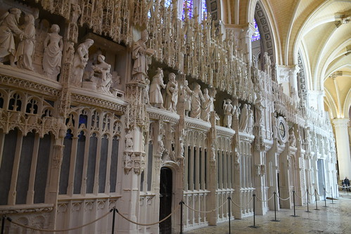 Intricate Statues inside Chartres Cathedral