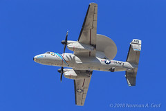 """Northrop Grumman E-2D Hawkeye of Carrier Airborne Early Warning Squadron 126 (VAW-126) """"Seahawks"""" from NS Norfolk (Norman Graf) Tags: vaw126 e2d aircraft airplane 168275 nasfallon usn cagbird e2 navalaviation northropgrumman ab600 aew awacs airborneearlywarning carrierairgroup carrierairborneearlywarningsquadron126 hawkeye knfl nfl navy plane unitedstatesnavy"""