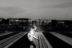 Motion (frenziM´s little world) Tags: berlin tempelhoferfeld streetphotography streetshot blackandwhite monochrome noiretblanc artisticphotography people
