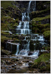 Cray Middle Falls (nathian brook) Tags: waterfalls yorkshire yorkshiredales longexposure landscape waterscape