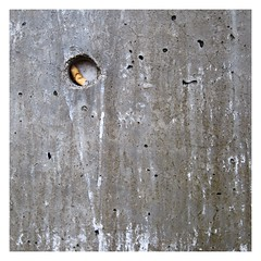 Winterschlaf / Hibernation (bartholmy) Tags: hartford ct wand wall beton concrete vertiefung eintiefung kreis circle nook poren porig porous zigarette cigarette kippe filter butt minimal minimalism minimalismus minimalistisch abstrakt abstract