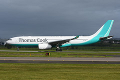 CS-TFZ Airbus A330-243 EGPF 16-07-16 (MarkP51) Tags: cstfz airbus a330243 a330 thomascookaitlines mt tcx glasgow airport gla egpf scotland airliner aircraft airplane plane image markp51 nikon d7200 aviationphotography planeporn sunshine sunny