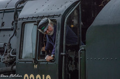 The Steam Engine Driver of a 9F 2-10-0. (Meon Valley Photos.) Tags: the steam engine driver railway watercress line
