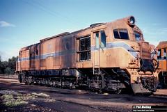 3808 XA1413  Narrogin Loco Depot 19 June 1983 (RailWA) Tags: railwa philmelling westrail 1983 narrogin loco xa1413