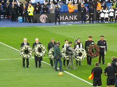 Pre match wreath laying (lcfcian1) Tags: leicester city burnley king power stadium lcfc bfc epl bpl premier league leicestercity burnleyfc leicestervburnley kingpowerstadium sport england stadia premierleague aiyawattsrivaddhanaprabha