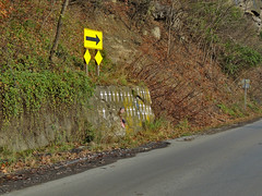 Deadly Curve of Crosses (George Neat) Tags: rt 135 highway curve luke md maryland allegany landscape scenic crosses deadly accidents killed lost georgeneat patriotportraits neatroadtrips