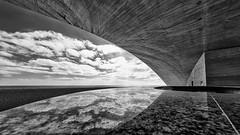 Auditorio (Leipzig_trifft_Wien) Tags: santacruzdetenerife kanarischeinseln spanien es architecture calatrava black white bnw monochrome building city urban travel reflection