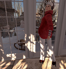 Baby, it's cold outside and I don't care! (Teddi Beres) Tags: second life sl virtual christmas xmas antipc heels boots group gift snow winter tree fashion style footwear songs banned