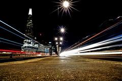 Shards of light (Paul Wrights Reserved) Tags: shard london londonstreets longexposure light lighttrails night nightphotography nighttime starburst sun