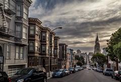 San Francisco (dorinser) Tags: filbertstreet sanfrancisco california usa city cityview citystreets urban clouds