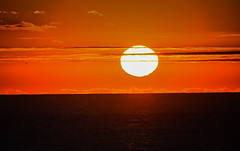 Sunrise over the Atlantic Ocean - Virginia Beach VA (mbell1975) Tags: virginiabeach virginia unitedstates us sunrise over atlantic ocean beach va usa america water sea orange yellow sun morning dawn