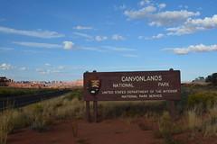 Canyon Lands National Park (dgone43) Tags: nationalpark canyonlandsnationalpark utah sign nikond5200 nikonphotography nikon clouds vacation fun