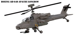 Boeing AH-64 Apache Longbow (Matthew McCall) Tags: lego moc military war boeing ah64 apache longbow attack helicopter