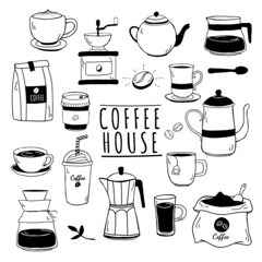 Cafe and coffee house pattern vector (nobir899) Tags: americano background beans beverage black blackcoffee brew brewed cafe coffee coffeecup coffeehouse coffeepot coffeeroasters coffeeshop cupofcoffee design dining drawing drink espresso foodandbeverage graphic handdrawn hipster hotcoffee icedcoffee icon illustrated illustration logo mixed mocha pattern patterned pot print restaurant roasters roastery vector wallpaper white whitebackground