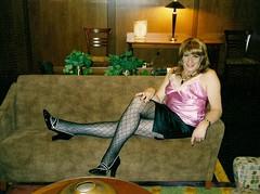Once Upon A Time . . . (Laurette Victoria) Tags: pumps heels patternedhose mini brunette woman laurette