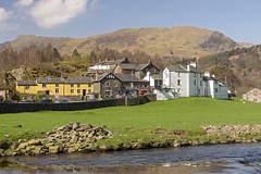 Patterdale, Lake District, Cumbria (dermotk) Tags: architecture beck britain britishvillages cumbria england englishvillages gb goldrillbeck hills lakedistrict northernengland patterdale pubs river shops uk village whitelion fells mountainousscenery