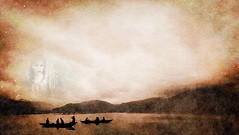From Iceland. (Tóta. 27.12.1964.) Tags: landscape mountain boats water clouds hvalfjörður woman iceland ísland