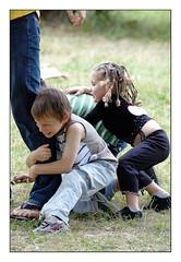 Stronger (orichier) Tags: france lorraine children game color d70 nikon girl boy grass school