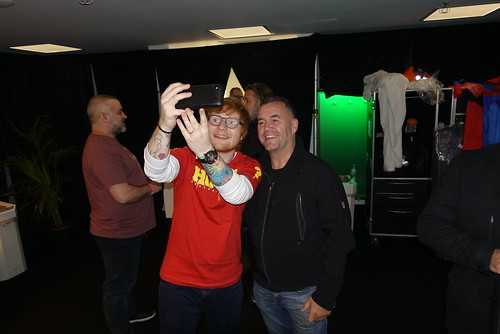 Ed Sheeran taking a selfie with Terry George