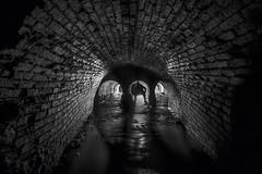 3 options (Camera_Shy.) Tags: drain culvert underground sheffield water waterway hidden draning light shadow silhouette brick brickwork old long exposure black white mono urban exploration ue urbex nikon d810
