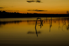 Golden Sky (Rafael C. C. de Souza) Tags: sky gold afternoon night day landscape lake river sunset sun trip nature canon
