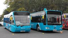 2974 YJ09 MKN, Optare Versa V1100 - 3003, BJ12 YPM, Mercedes Benz O.530, Citaro Body (t.2018) (Andy Reeve-Smith) Tags: 2974 yj09mkn optare verso v1100 3003 bj12ypm citaro mercedesbenz o530 arriva showbus 2018 showbus2018 derbyshire derbys leicestershire leics neleics doningtonpark donington castledonington