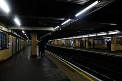 Edit of-0103 (Daisy Roffe) Tags: platform london underground neon yellow lights trains subway tube