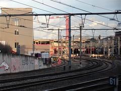 Curving tracks, departing railway station, Namur, Belgium (Paul McClure DC) Tags: belgium belgique wallonie wallonia feb2018 namur namen ardennes railroad railway