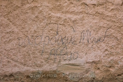 Spanish Inscriptions in El Morro National Monument (Lee Rentz) Tags: antiquitiesact cibolacounty coloradoplateau elmorro elmorronationalmonument inscriptionrock inscriptionrocktrail newmexico spanish theodoreroosevelt trailoftheancientsbyway america americanwest archaeological archaeology carved carving cultural culture desert dry historic history horizontal interpretation journey landscape names nature northamerica oasis passing path pool promontory record rock route sandstone script source southwest stone trail travel traveler usa water wateringhole west