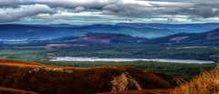 Loch Morlich, Scotland from Cairngorm Mountain (hkcarmic) Tags: lochmorlich cairngormnationalpark cairngorms cairngormmountain skiing canoeing autumncolours sprinklingofsun scotland