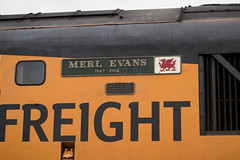 Merl Evans 1947 - 2016 (DM47744) Tags: class 37 37099 colas railfreight english electric type 3 locomotive loco train trains rail nameplate merl evans 1947 2016 bachmann