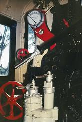 Steam Loco X36 Controls (oz_lightning) Tags: 35mmslrcamera 35mmfilmcamera australia canonpixmamg8150 filmscan hanimexcs50 melbourne newport vic yashicaj3 yashinon50mmf2lens film flash history industrial interior preserved railways restored scan slide steam trains victoria aus